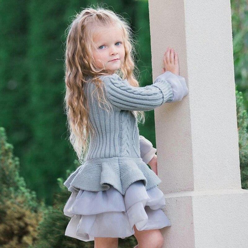H1e2999fb5a5b4eda9c0b0f345203ee86S Xmas Winter Autumn Girl Dress Children Clothes Kids Dresses For Girls Party Dress Long Sleeve Knitted Sweater Toddler Girl Dress