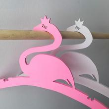 Hot 1pc Cute Flamingo PVC Childrens Room Decorative Clothes Coat Hanger Hanging Tool Shape Home Decor
