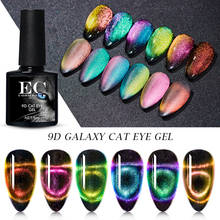 9D Galaxy Cat Eye Nail Gel Polish Magnetic Soak Off UV LED