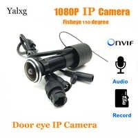2MP 1080P Indoor Peephole del Portello Eye IP TELECAMERA di Sicurezza Domestica Della Macchina Fotografica P2P Sensore di Movimento XMEye Video/Audio Onvif Macchina Fotografica carta di TF di sostegno