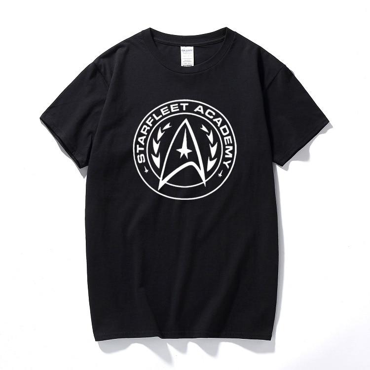 Starfleet academy mens t shirt tee star enterprise space trek retro gift summer top camiseta cotton short sleeve t-shirt(China)