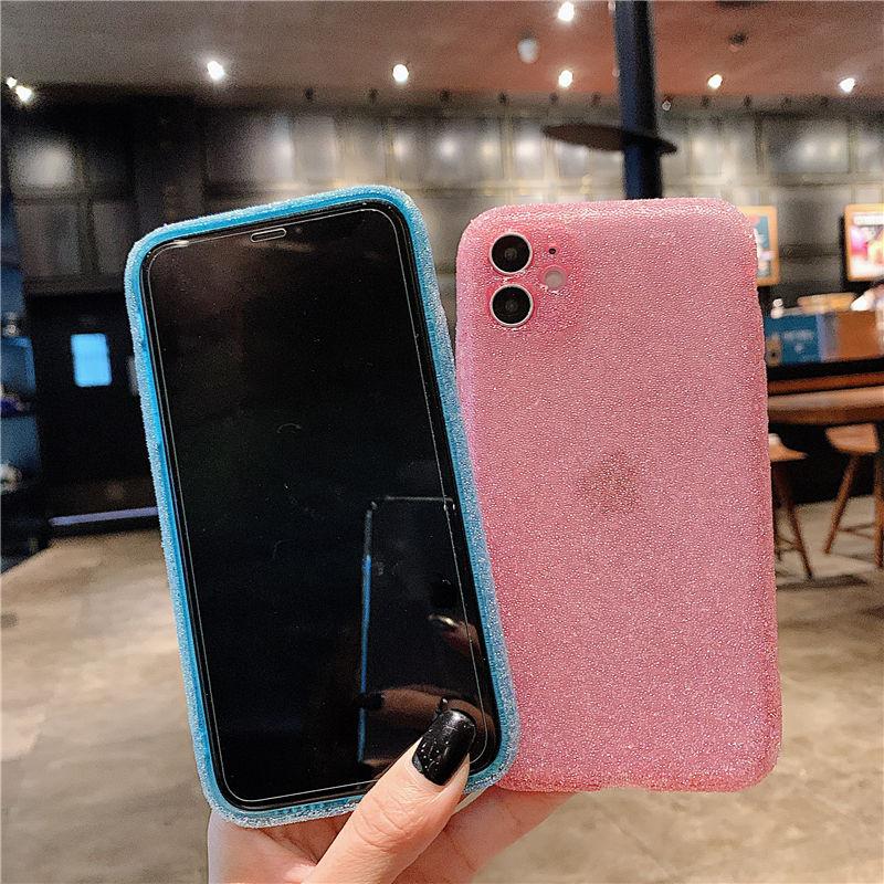 Funda de teléfono de silicona con purpurina para iPhone, funda de TPU suave a prueba de golpes, brillante, de lujo, para iPhone 12 11 Pro Max 12 Pro X XR XS Max 8 7 Plus 4