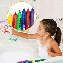 6 pçs lavável crayon crianças bebê banho tempo tintas desenho canetas brinquedo para halloween maquiagem reme889