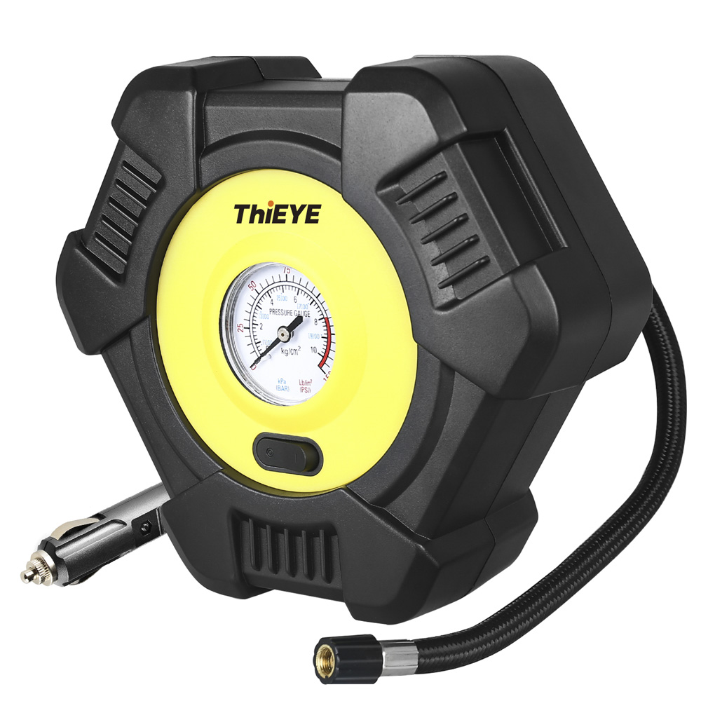 ThiEYE Digital Car Intelligent Car Air Compressor Tire Inflatable Pump 12V Portable Auto Tyre Inflator For Car Tires