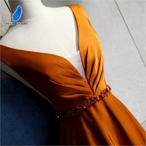 Image 4 - DEERVEADO เซ็กซี่เปิดกลับยาวกับ Beading Deep V คออย่างเป็นทางการโอกาส Party Dresses ชุดราตรี XYG820