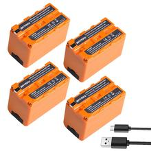 4Pcs 5200mAH USB Output NP-F750 NP F750 F730 F770 Battery LED Power Indicator for Sony NP F960 F970 NP-F770 CCD-TRV58 V1J z1 bonacell 6000mah np f770 np f750 np f770 np f750 npf770 750 batteries charger for sony np f550 np f770 np f750 f960 f970 l10
