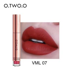 Image 5 - O.TWO.O lápiz labial mate líquido resistente al agua de larga duración de terciopelo brillo de labios maquillaje suave pigmento labial tinte labios rojos cosméticos