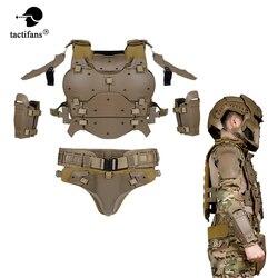 Chaleco portador de placa táctico de las tropas Warrior conjunto de armadura de cuerpo ajustable de protección para disparar Paintball Airsoft CS Wargame