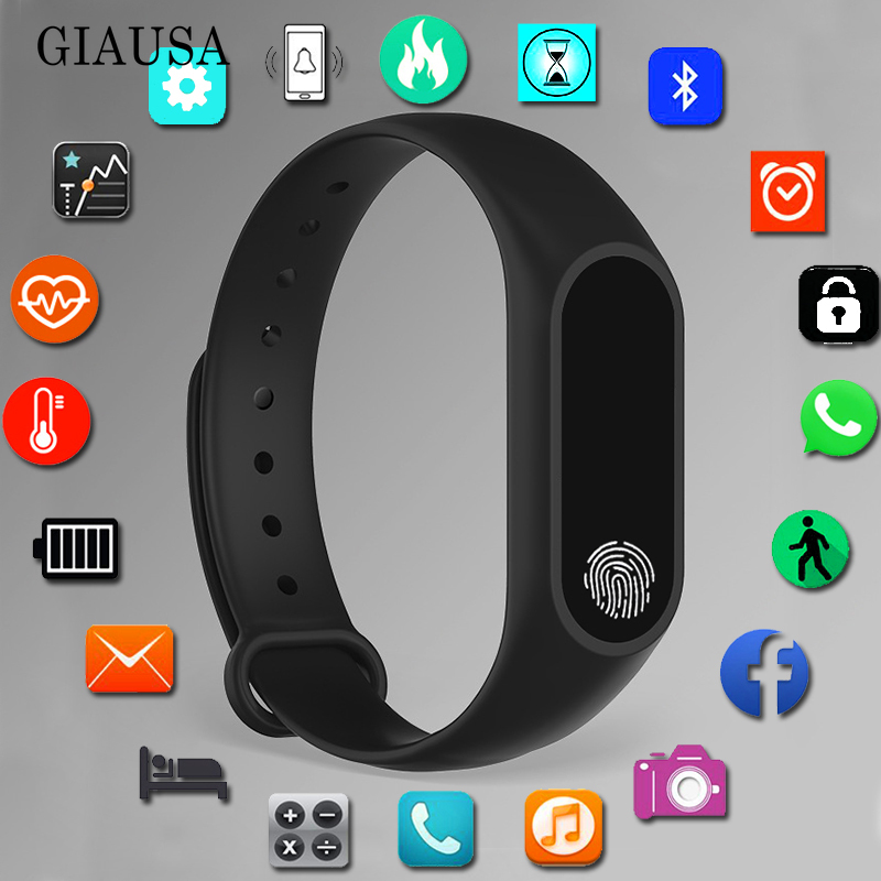 Sport Bracelet Smart Watch Kids Watches Children For Girls Boys Smartwatch Child Wristband Smart Band Clock Fitness Tracker Gift