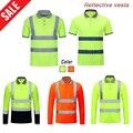 Coletes de segurança reflexivos secagem rápida alta visibilidade workwear tráfego estrada vestuário construção ao ar livre roupas de trabalho de proteção