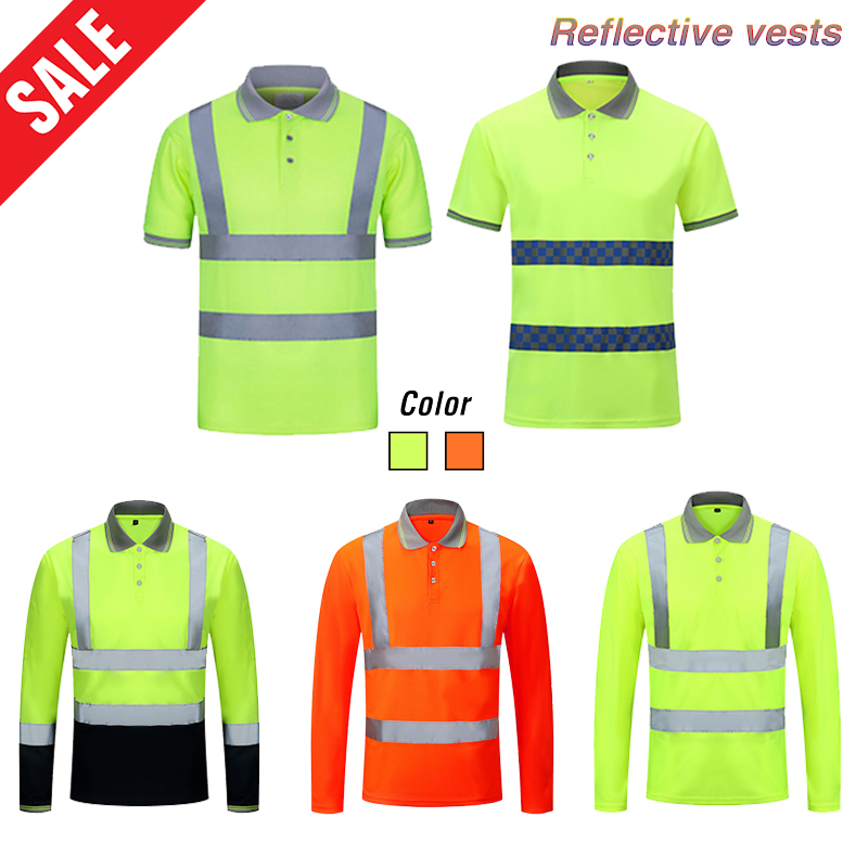 Quick Dry Reflective Safety Vests High Visibility Workwear Traffic Road Clothing Outdoor Construction Protective Work Clothes