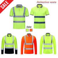 Quick Dry di Sicurezza Riflettente Gilet Da Lavoro Ad Alta Visibilità Traffico Strada Abbigliamento Outdoor Costruzione di Protezione Abiti Da Lavoro