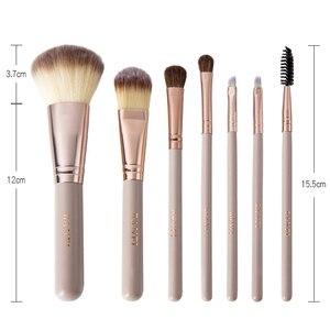Image 2 - 7 Pçs/set Pincéis de Maquiagem Kit de Beleza Make up jogo de Escova Concealer Cosméticos Pincel de Blush Fundação Eyeshadow Concealer Lip Eye Ferramenta