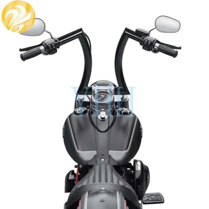 Duobeisi Black 12 Rise 1-1/4 Fat Ape Hangers Handlebars For Harley ...