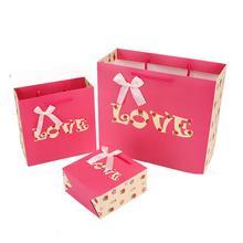 10pcs/lot Valentine's Day Love Print Gift Tote Bag Christmas Gift Bag High-end Wedding Paper Bag 14x15x7cm calico print tote bag