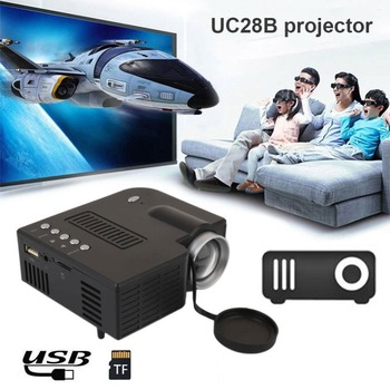 Mini Portable UC28CB/UC28D projector 500LM Home Theater Cinema Multimedia LED Video Projector Support USB TF Card EU/US Plug