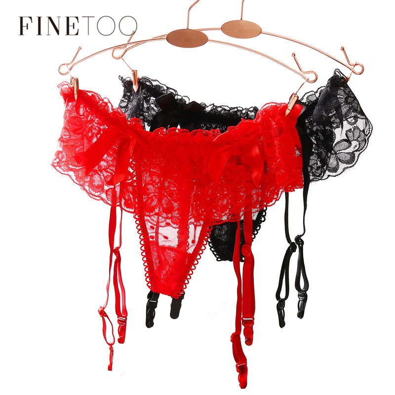 Sexy Women Lace Garter Black/Red Temptation Ultra-Thin Female Silk Stockings Suspender Belt Wedding Garters Belts Accessories