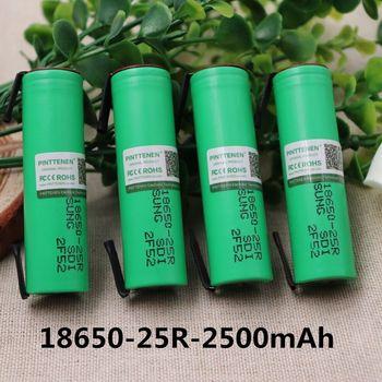 100 nowa marka 18650 2500mAh akumulator 3 6V INR18650 25R M 20A baterie rozładowania tanie i dobre opinie Dolidada INR18650-25R Li-ion CN (pochodzenie) Tylko baterie Pakiet 1