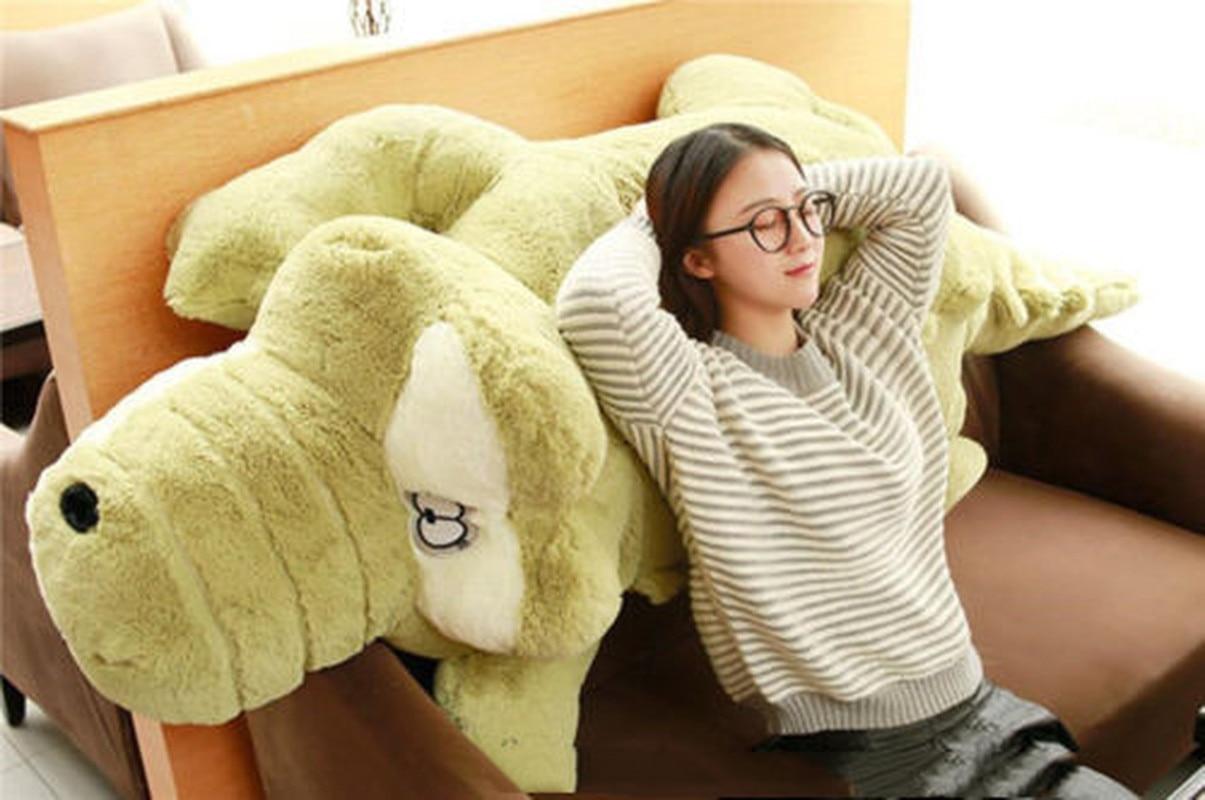 170cm Giant Big Plush Crocodile Stuffed Animal Soft Toy Huge Cushion Pillow Plush Toys Toys for Children Cute Plush Holiday Gift