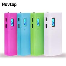 Rovtop מכירה לוהטת 5 v Usb הכפול 5x18650 כוח בנק סוללה תיבת נייד טלפון מטען Diy פגז מקרה עבור iphone6 בתוספת S6 xiaomi