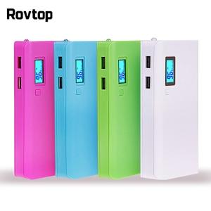 Image 1 - Rovtop 뜨거운 판매 5V 듀얼 USB 5x18650 전원 은행 배터리 상자 휴대 전화 충전기 DIY 쉘 케이스 iphone6 플러스 S6 xiaomi