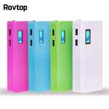 Rovtop sıcak satış 5V çift USB 5x18650 güç bankası pil kutusu cep telefonu şarj DIY Shell kılıf için iphone6 artı S6 xiaomi