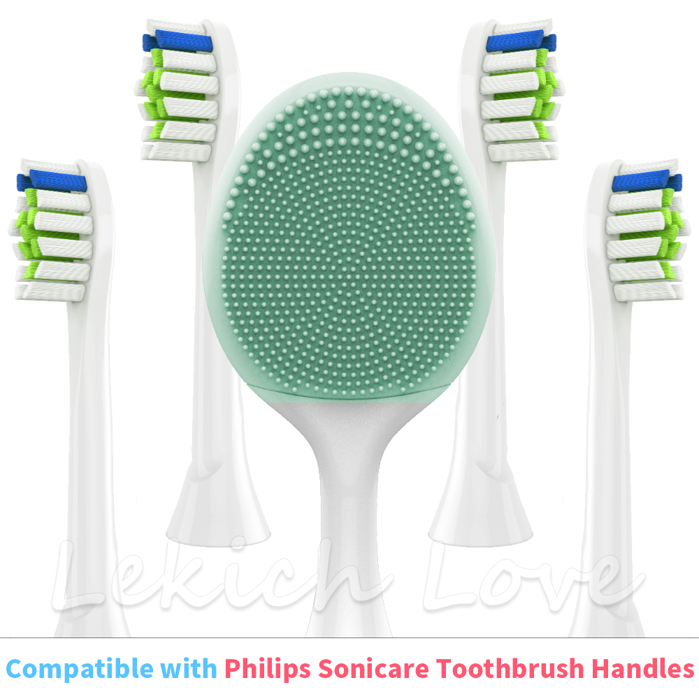 For Philips Sonicare Electric Toothbrush, Facial Cleansing Brush Head And Toothbrush Heads Fit For Philips Sonicare
