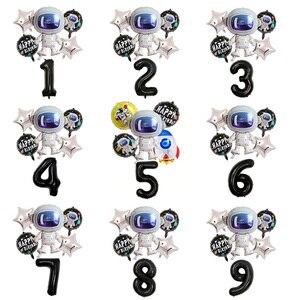 Image 1 - Balões de alumínio de astronauta para festas, balões esportivos de 37 polegadas, para festas, aniversários, decoração de festas, globos, gás hélio