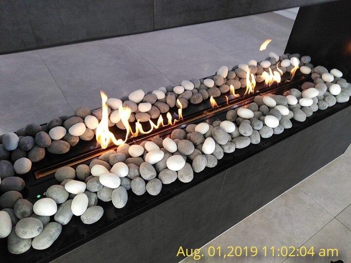 60 Inch Wifi Real Fire Indoor Intelligent Smart Wall Fire Ethanol Indoor Fireplace