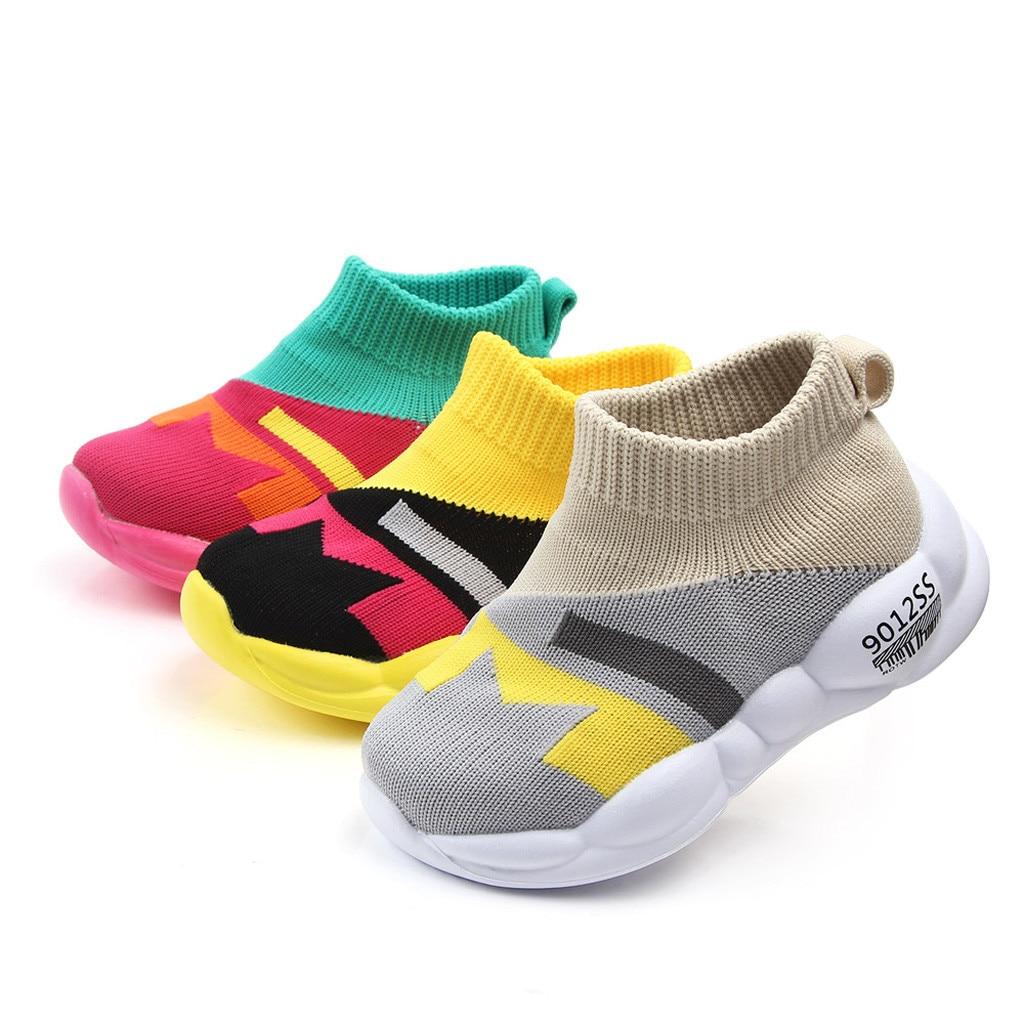 Toddler Baby Girls Boys Fur Hi Top Boots Soft Sole Pumps Canvas Shoe Infant Size
