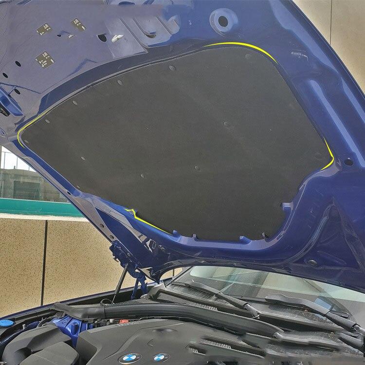 Tapis de coton insonorisé de coffre arrière de voiture tapis de protection insonorisant pour BMW série 3 G20 G28 2020 accessoires de voiture