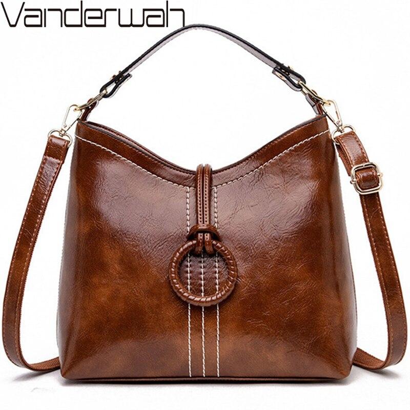 Brand 2020 Sac A Main Femme Oil Skin Leather Luxury Handbags Women Bags Designer Handbags High Quality Ladies Shoulder Hand Bag