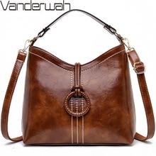 VANDERWAHยี่ห้อ 2019 Sac AหลักFemmeกระเป๋าถือหนังหรูผู้หญิงกระเป๋าออกแบบกระเป๋าถือคุณภาพสูงสุภาพสตรีกระเป๋าสะพาย