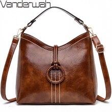 VANDERWAH Bolso de cuero de lujo para mujer, bolsa de diseñador, bolso de hombro de alta calidad, 2019