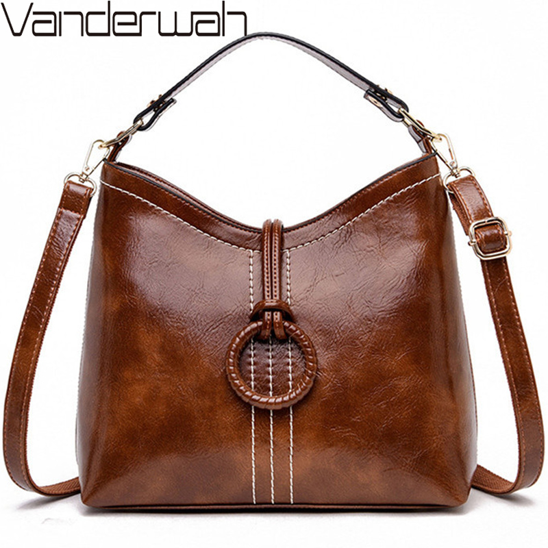 VANDERWAH Brand 2019 Sac A Main Femme Leather Luxury Handbags Women Bags Designer Handbags High Quality Ladies Shoulder Hand Bag