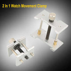2pcs 2 In 1 Reversible Watch Wristwatch Case Movement Holder Vice Clamp Fixing Tool Watch Repair Tool Kit for Watchmaker