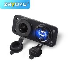 Car-Charger Socket-Plug-Connector Car Usb Mobile-Phone 12V 5V Fast Dual
