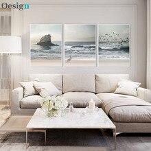 Seaside praia quadros em tela paisagem imagens arte da lona para sala de estar parede gaivota decoração ilhas cartazes e impressionar