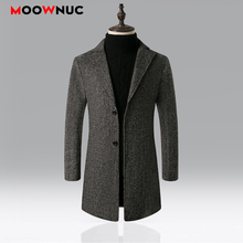 Winter Autumn Overcoat Woollen Long Mens Coats Thermal Thick Windbreaker Solid Male Fashion Business Smart Casual British Style