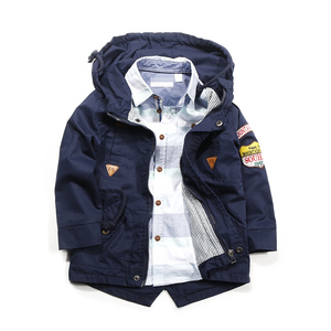 Image 5 - Весенне осенняя куртка Верхняя одежда для мальчиков ветровка с длинными рукавами, детский плащ с капюшоном для малышей, От 7 до 12 лет