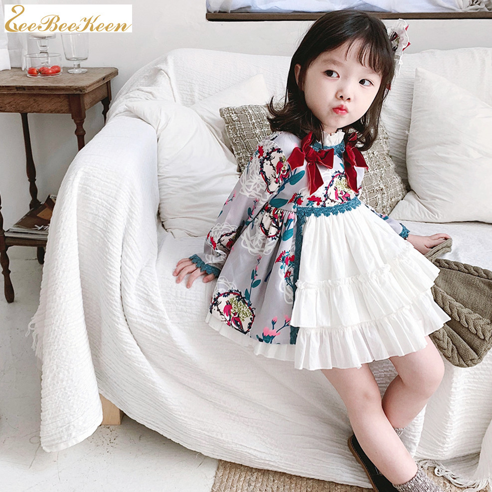 Lolita princess dress Children Birthday Dress kids Clothing Spring and Autumn Baby Lolita Dress Spanish Court Sweet Lolita Dress