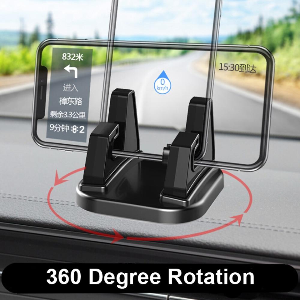 Akcesoria samochodowe 360 stopni obrót uchwyt samochodowy na telefon komórkowy Dashboard Sticking uniwersalny stojak uchwyt mocujący do telefonu komórkowego