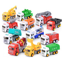 6Pcs Mini Engineering Car Tractor Toy Dump Truck Model Classic Toy Alloy Car Children Toys Engineering Vehicle alloy engineering caterpillar tractor with compartment vehicle simulation model of agricultural toys children s birthday gift