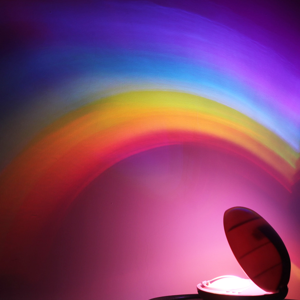 3 Modes RGB LED ColorfulCreative Night Light Rainbow-Shaped Egg Projector Magic Romantic Light Children's Bedroom Decoration
