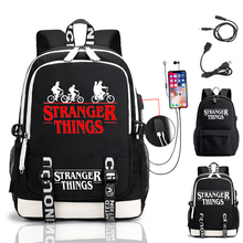 Backpack School-Bags Teenage Stranger Laptop Girls Women's for Boy's Things