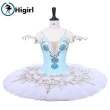 Blue white Flames Of Paris  performance Professional ballet tutus platter stage concert competition costume BT9234A