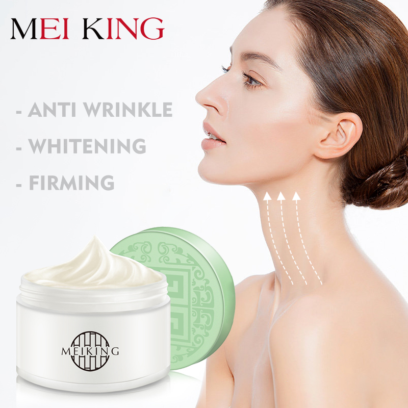 MEIKING Hyaluronic Acid Anti Wrinkle Neck Cream Moisturizing Remove Fine Lines Neck Mask Whitening Firming Neck Masks Care 80g