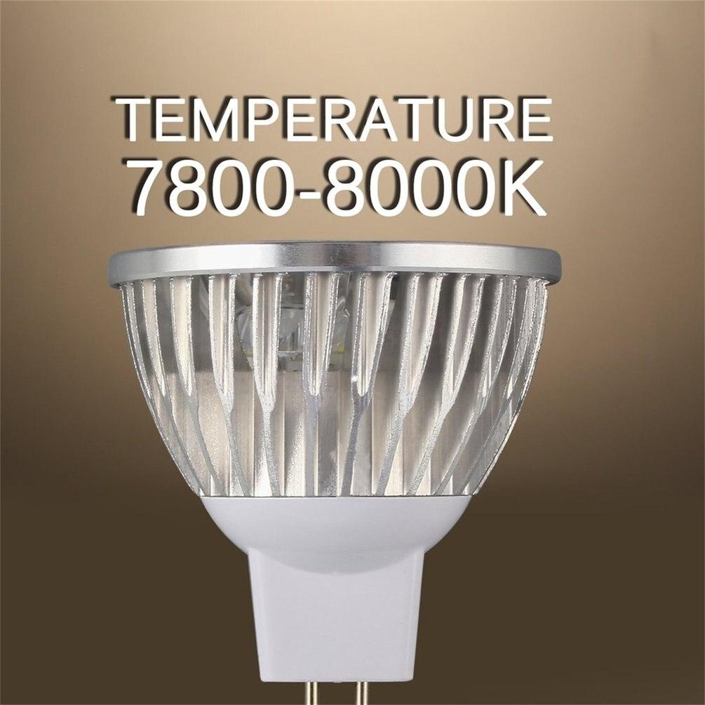 4 LED Bulb MR16 4W 12V Aluminum Cool White Spot Light Bulb Lamp Spotlight Focus Downlight 7800-8000K 280-300 Lumen