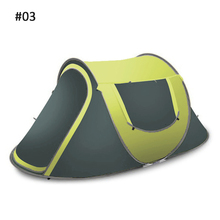 3-4 people Family Tent Automatic Throw Pop Up Tent 3 Mode Outdoor Camping Hiking Beach Waterproof UV Protection Sun Shelters lixada ultralight hiking tent automatic instant pop up beach tent outdoor uv protection camping fishing tent sun shelter