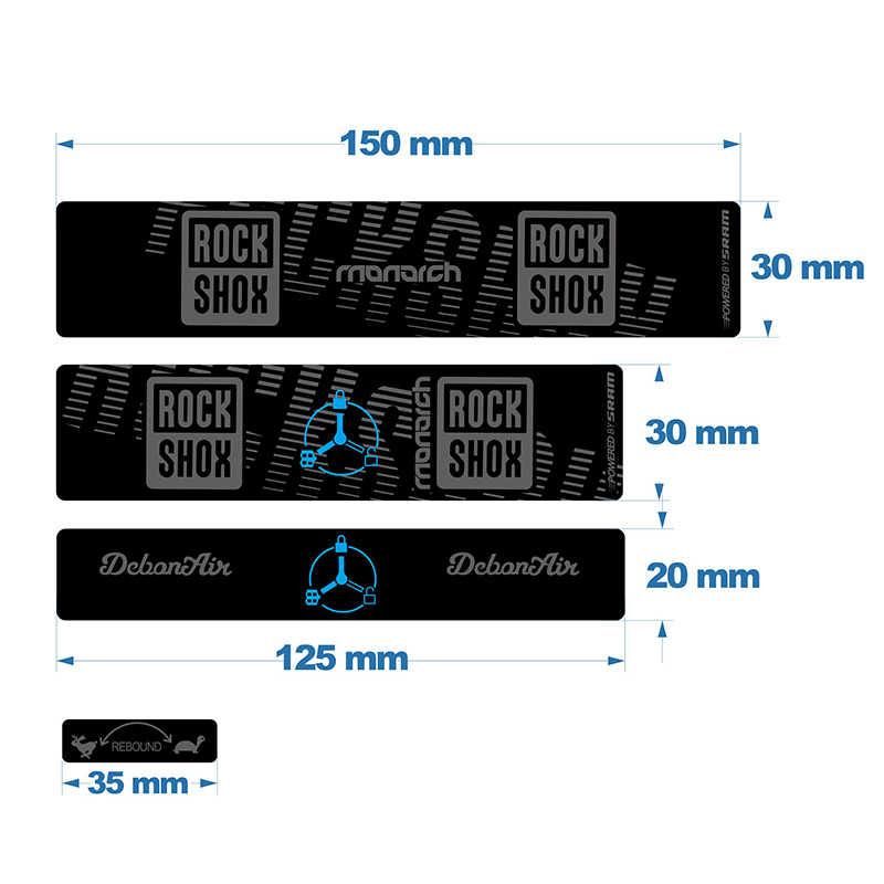 Rock Shox MONARCH 2020 RT3 Rear Shock Decal Sticker Adhesive Set Oil Slick1
